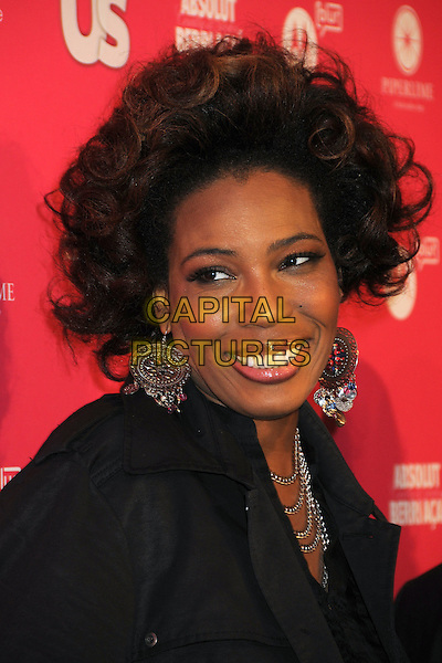 MACY GRAY.US Weekly Hot Hollywood Style Issue Event held at Drai's at the W Hollywood Hotel, Hollywood, California, USA..April 22nd, 2010.headshot portrait black silver necklaces earrings .CAP/ADM/BP.©Byron Purvis/AdMedia/Capital Pictures.