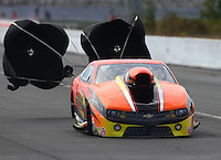 Mar 13, 2015; Gainesville, FL, USA; NHRA pro mod driver Dan Stevenson during qualifying for the Gatornationals at Auto Plus Raceway at Gainesville. Mandatory Credit: Mark J. Rebilas-