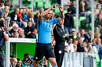 GRONINGEN - Voetbal, FC Groningen - FC Twente, Eredivisie, seizoen 2019-2020, 10-08-2019, arbiter Christaan Bax geeft een strafschop