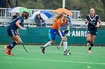 BLOEMENDAAL  - Michelle van der Drift (Bldaal) tijdens de hoofdklasse competitiewedstrijd vrouwen , Bloemendaal-Pinoke (1-2) . COPYRIGHT KOEN SUYK