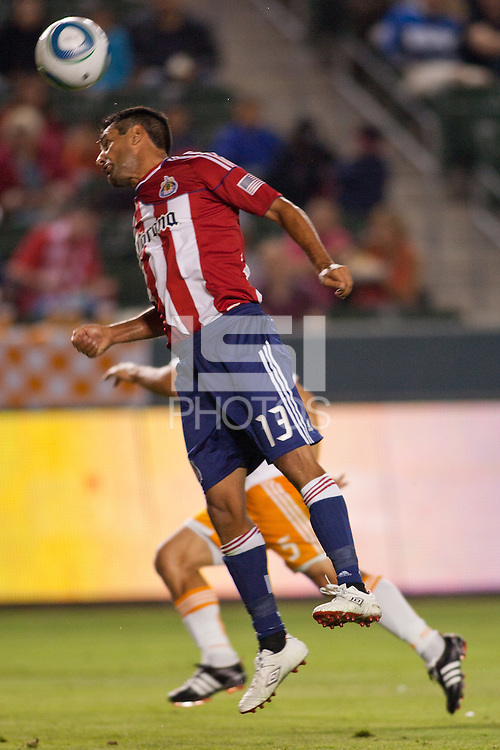 CD Chivas USA defeated Houston Dynamo 3-0 at Home Depot Center stadium in Carson, California on July 23, 2011.