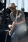 Gary Clark Jr. performs during Day 1 of the Made in America Music Fesival in Philadelphia, Pennsylvania.