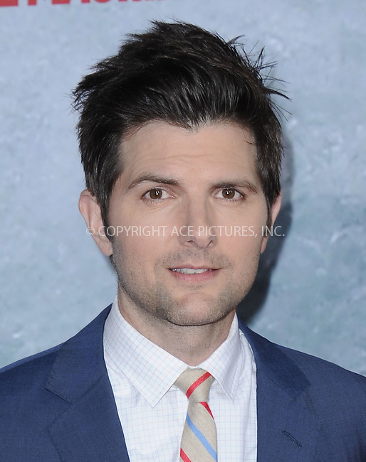 WWW.ACEPIXS.COM<br /> <br /> February 18 2015, LA<br /> <br /> Adam Scott at the premiere of Paramount Pictures' 'Hot Tub Time Machine 2' at the Regency Village Theatre on February 18, 2015 in Westwood, California.<br /> <br /> <br /> By Line: Peter West/ACE Pictures<br /> <br /> <br /> ACE Pictures, Inc.<br /> tel: 646 769 0430<br /> Email: info@acepixs.com<br /> www.acepixs.com