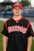 August 26 2008:  Pitcher Thomas Eager of the Batavia Muckdogs, Class-A affiliate of the St. Louis Cardinals, during a game at Dwyer Stadium in Batavia, NY.  Photo by:  Mike Janes/Four Seam Images