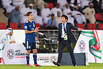 Japan Head Coach Hajime Moriyasu (R) reacts as Muto Yoshinori of Japan (L) looks on during the AFC Asian Cup UAE 2019 Group F match between Oman (OMA) and Japan (JPN) at Zayed Sports City Stadium on 13 January 2019 in Abu Dhabi, United Arab Emirates. Photo by Marcio Rodrigo Machado / Power Sport Images