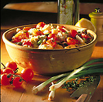 cherry tomato and scallion salad