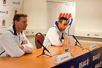 10-02-11Tennis, Rotterdam, ABNAMROWTT,  Persconferentie Davis Cup, Jan Siemerink, Thomas Schoorel