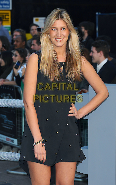 "FRANCESCA 'CHESKA' HULL.""Real Steel"" - UK film premiere held at the Empire Leicester Square - Arrivals..London, England..September 14th, 2011.half length sleeveless dress hand on hip black .CAP/BEL.©Tom Belcher/Capital Pictures."