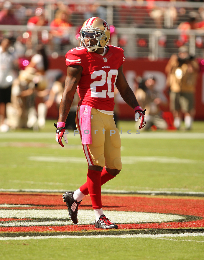 San Francisco 49ers Parrish Cox (20) during a game against the Kansas City Chiefs on October 5, 2014 at Levi's Stadium in Santa Clara, CA. the 49ers beat the Chiefs 22-17.
