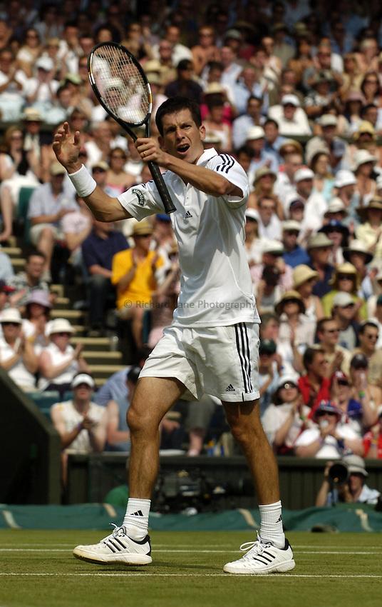 Photo. Jed Wee..Wimbledon Championships. 23/06/2005..Tim Henman.