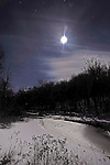 Moon Shining on the Ashuelot River in Marlow, New Hampshire
