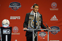 Chandler Hoffman 13th pick of first round by Philadelphia Union... The 2012 MLS Superdraft was held on January 12, 2012 at The Kansas City Convention Center, Kansas City, MO.