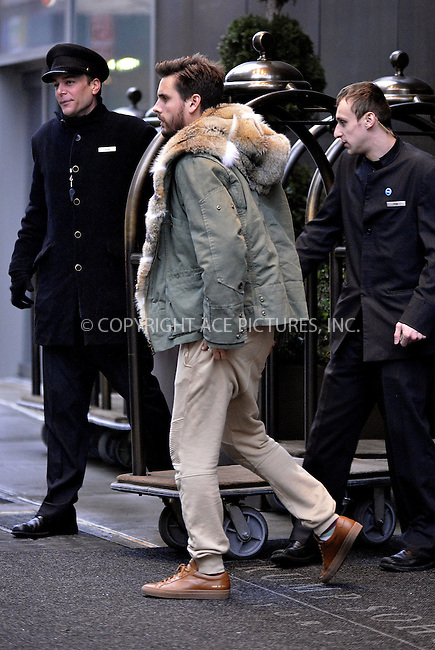 WWW.ACEPIXS.COM<br /> <br /> Janaury 10 2014, New York City<br /> <br /> TV personality Scott Disick leaves a downtown hotel on January 10 2014 in New York City<br /> <br /> By Line: Curtis Means/ACE Pictures<br /> <br /> <br /> ACE Pictures, Inc.<br /> tel: 646 769 0430<br /> Email: info@acepixs.com<br /> www.acepixs.com