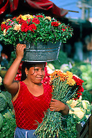 Selling flowers in the Central Market, Acapulco, Mexico