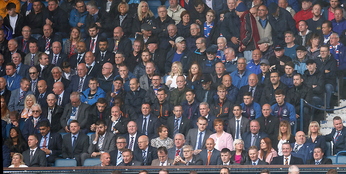 11.08.2019 Rangers v Hibs: Rangers fans and players