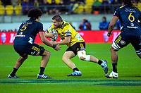 Hurricanes' captain Dane Coles in action during the Super Rugby match between the Hurricanes and Highlanders at Westpac Stadium in Wellington, New Zealand on Friday, 1 March 2019. Photo: Dave Lintott / lintottphoto.co.nz