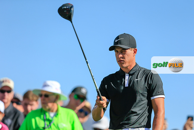 Cameron Champ (USA) on the 3rd tee during the 2nd round of the Waste Management Phoenix Open, TPC Scottsdale, Scottsdale, Arisona, USA. 01/02/2019.<br /> Picture Fran Caffrey / Golffile.ie<br /> <br /> All photo usage must carry mandatory copyright credit (© Golffile | Fran Caffrey)