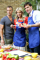 May 31, 2012 Joey Lawrence, Kelly Ripa co-host Mike Greenberg from ESPN'S Mike & Mike grilling at Live with Kelly! in New York City. © RW/MediaPunch Inc.