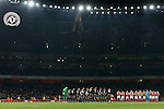 Arsenal's and Southampton's p;ayers pay their respects to the Brazil's Chapecoense football team during the EFL Cup match at the Emirates Stadium, London. Picture date October 30th, 2016 Pic David Klein/Sportimage