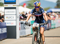 Picture by Alex Broadway/SWpix.com - 09/09/17 - Cycling - UCI 2017 Mountain Bike World Championships - XCO - Cairns, Australia - Pauline Ferrand-Prévot of France competes in the Women's Elite Cross Country Final.