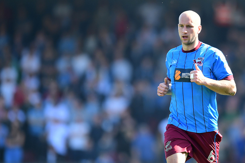 Scunthorpe United's David Mirfin<br /> <br /> Photographer Chris Vaughan/CameraSport<br /> <br /> The EFL Sky Bet League One - Scunthorpe United v Bolton Wanderers - Saturday 8th April 2017 - Glanford Park - Scunthorpe<br /> <br /> World Copyright &copy; 2017 CameraSport. All rights reserved. 43 Linden Ave. Countesthorpe. Leicester. England. LE8 5PG - Tel: +44 (0) 116 277 4147 - admin@camerasport.com - www.camerasport.com