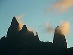 Basalt necks,  island of Ua Pou <br /> Pics ou necks basalitique de l ile de Ua Pou (&quot;les piliers&quot;)