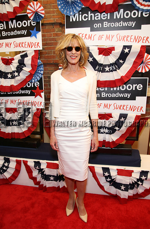 Christine Lahti attends the Broadway Opening Night Performance for 'Michael Moore on Broadway' at the Belasco Theatre on August 10, 2017 in New York City.