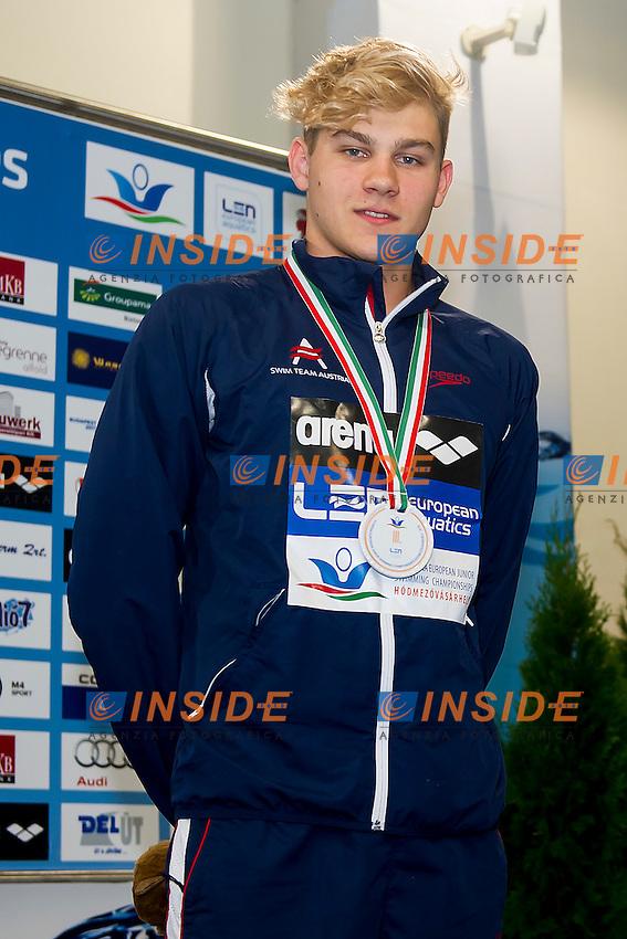 Rothbauer Christopher AUT<br /> 200 Breaststroke Men Final Bronze Medal<br /> LEN 43rd Arena European Junior Swimming Championships<br /> Hodmezovasarhely, Hungary <br /> Day02 07-07-2016<br /> Photo Andrea Masini/Deepbluemedia/Insidefoto