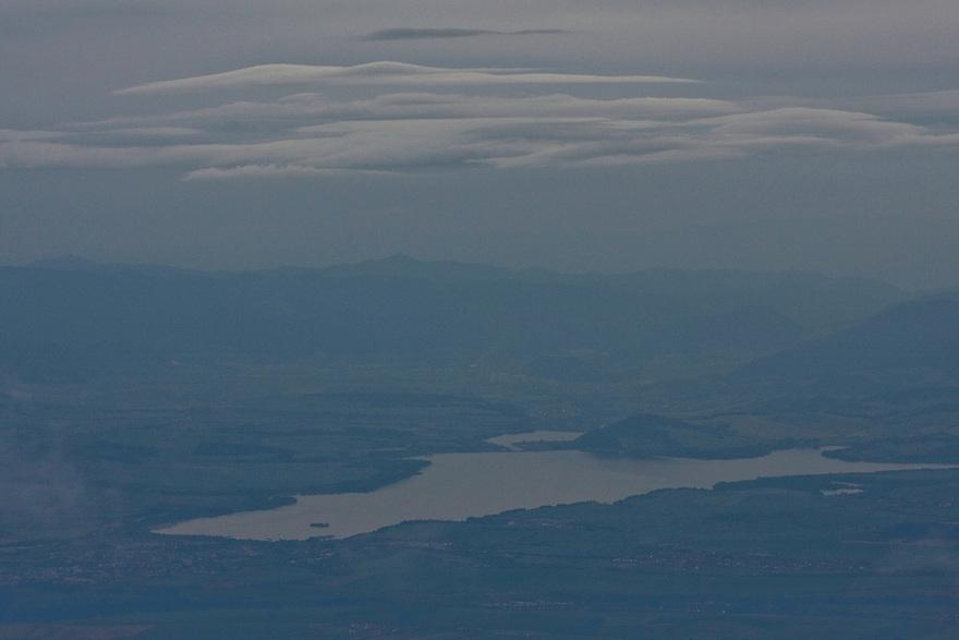 Aerial view of the artificial lake Liptovska Mara at the foothills of the Western Tatras, Slovakia. June 2009. Mission: Ticha