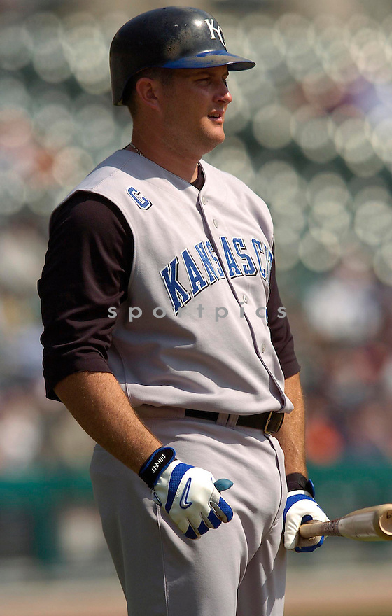 Mike Sweeney during the Kansas City Royals v. Detroit Tigers game on April 6, 2005...Royals win 7-2..Chris Bernacchi / SportPics