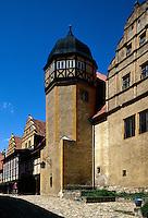 Deutschland, Sachsen-Anhalt, Schloss in Quedlinburg, Unesco-Weltkulturerbe