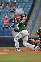 Daytona Tortugas third baseman Taylor Sparks (12) squares to bunt during a game against the Tampa Yankees on April 24, 2015 at George M. Steinbrenner Field in Tampa, Florida.  Tampa defeated Daytona 12-7.  (Mike Janes/Four Seam Images)
