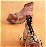Old Railroad worker boots