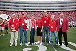 The Wisconsin Badgers Hall of Fame inductees are introduced during halftime of an NCAA college football game against the San Jose State Spartans on September 11, 2010 in Madison, Wisconsin. The Badgers beat San Jose State 27-14. (Photo by David Stluka)