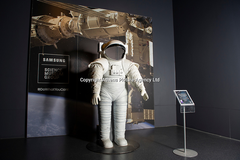 Pictured: A general view of Tim Peake's Spacecraft Exhibition that is being held at the National Museum Cardiff, in Cardiff, South Wales, UK. Thursday 15 November 2018