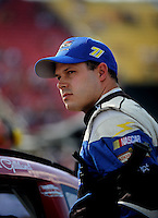 Aug. 7, 2009; Watkins Glen, NY, USA; NASCAR Sprint Cup Series driver David Gilliland during qualifying for the Heluva Good at the Glen. Mandatory Credit: Mark J. Rebilas-