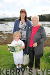 TALL TALES: Colleen Laybourne-Smith, Patsy Jarvis and Alfie Holding with the children's book which Colleen wrote and illustrated.