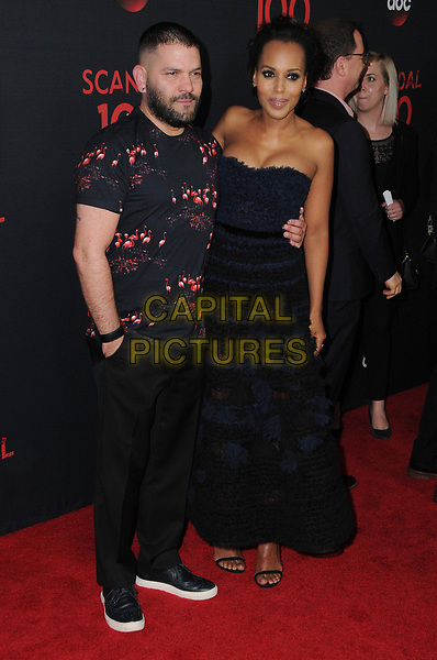 08 April 2017 - West Hollywood, California - Guillermo Diaz, Kerry Washington. ABC's 'Scandal' 100th Episode Celebration held at Fig &amp; Olive in West Hollywood.   <br /> CAP/ADM/BT<br /> &copy;BT/ADM/Capital Pictures