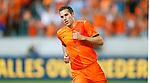 Nederland, Amsterdam, 26 mei 2012.Oefeninterland .Nederland-Bulgarije.Robin van Persie juicht ingetogen nadat hij de 1-0 heeft gemaakt