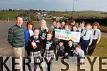 John Cahill and principal Mary Scanlon with 4th, 5th and 6th class students from Brosna NS with their project Eco Green as part of the Junior Entrenpeur Programme, pictured here last Thursday.