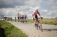 Adam Blythe (GBR/Lotto-Soudal)<br /> <br /> 74th Dwars door Vlaanderen 2019 (1.UWT)<br /> One day race from Roeselare to Waregem (BEL/183km)<br /> <br /> ©kramon