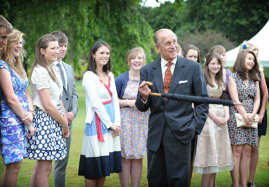 The Duke presents the Duke of Edinburgh Gold Awards at The Palace of Holyrood House.....