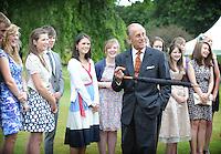 The Duke presents the Duke of Edinburgh Gold Awards at The Palace of Holyrood House.....