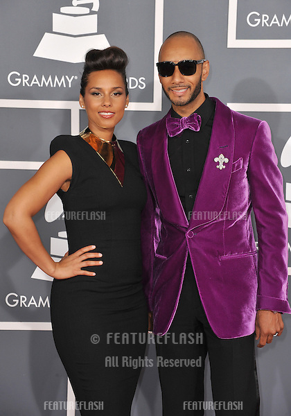 Alicia Keys & Swizz Beatz at the 54th Annual Grammy Awards at the Staples Centre, Los Angeles..February 12, 2012  Los Angeles, CA.Picture: Paul Smith / Featureflash