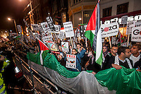 Gaza Protest at Israeli Embassy London 15-11-12