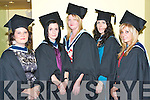 GRADUATION: Student of ITT who recived their degree's in Social Studies at Brandon Hotel on Friday l-r: Emer Sweeney, Beaufort, Kare O'Donoghue, Killarney, Bernadette Murphy, Ballonagh, Michelle Moore, Shanakill and Cira O'Sullivan, Ballyduff..   Copyright Kerry's Eye 2008