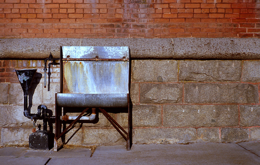 Water fountain on the in the yard at the Old Montana State Prison in August of 2006.