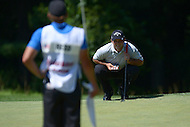 Bethesda, MD - June 25, 2016: Patrick Reed reads the 13th green with his caddy, Kessler Karain, during Round 3 of professional play at the Quicken Loans National Tournament at the Congressional Country Club in Bethesda, MD, June 25, 2016.  (Photo by Don Baxter/Media Images International)