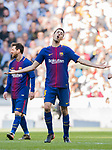 Sergio Busquets Burgos of FC Barcelona reacts during the La Liga 2017-18 match between Real Madrid and FC Barcelona at Santiago Bernabeu Stadium on December 23 2017 in Madrid, Spain. Photo by Diego Gonzalez / Power Sport Images