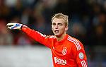 Nederland, Utrecht, 26 september  2012.Seizoen 2012-2013.KNVB Beker.FC Utrecht-Ajax.Jasper Cillessen van Ajax geeft aanwijzingen.